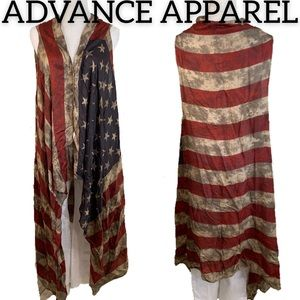 NWT Advance Apparels Flag Vest/Shrug (One Size)